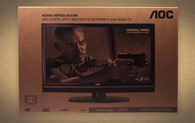 AXN usa caixas de TV como mídia