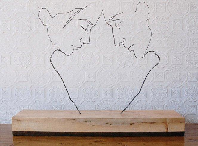 Esculturas com arame