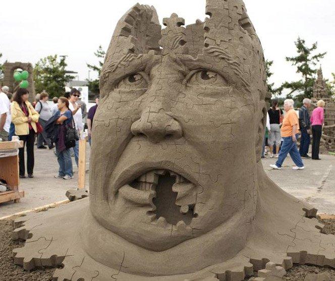 Esculturas de areia sensacionais