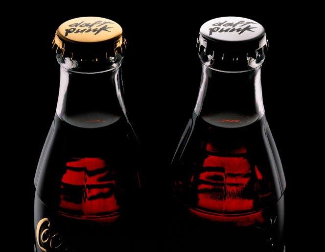 Embalagem de Coca Cola especial Daft Punk