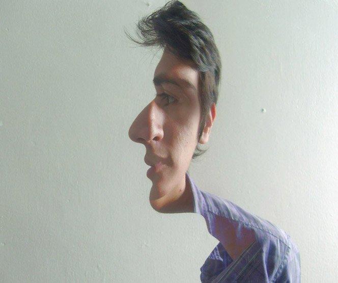 Duas caras – Misturando fotos de perfil e de frente