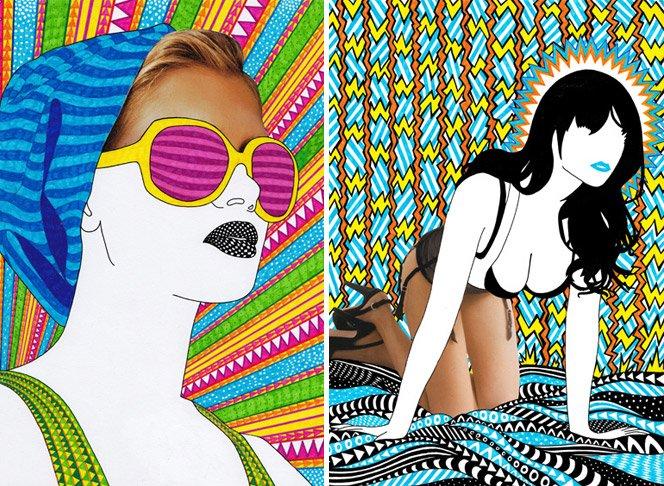 A mistura de ilustração + fotografia de Nikki Farquharson