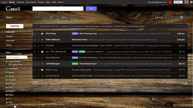 A nova interface do Gmail