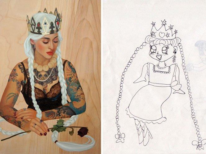 Artistas reiventam desenhos da infância