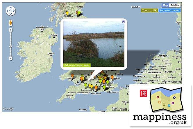 Mappiness o App que mede e mapeia a sua felicidade