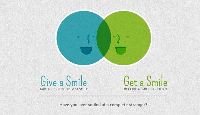 Troque sorrisos com estranhos