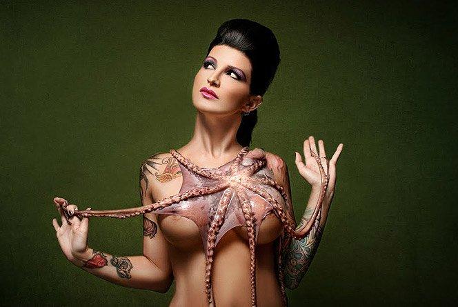 Tattoos & Tentacles – Ensaio com tatuagem e polvos