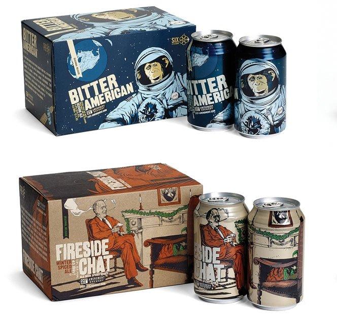 Latinhas de cerveja ilustradas