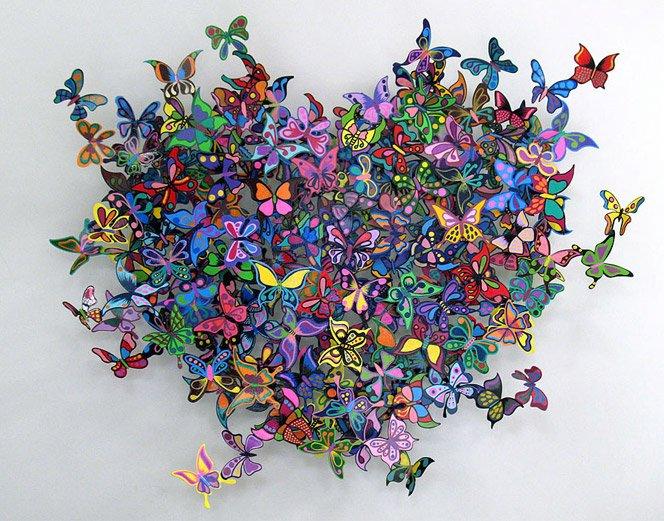 Esculturas vibrantes de metal de David Kracov