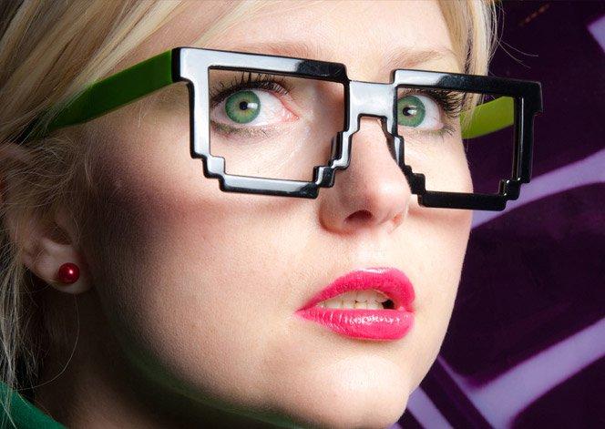 Óculos pixel de sol e de grau