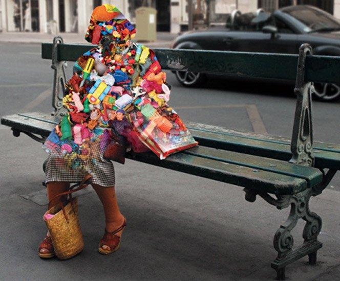 Ensaio fotográfico com silhuetas de pessoas