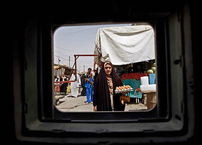 Fotografias de dentro de tanques no Iraque