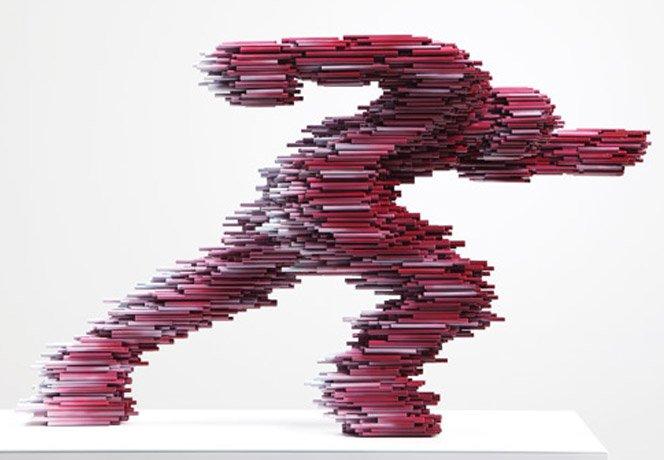Esculturas com tubos de PVC