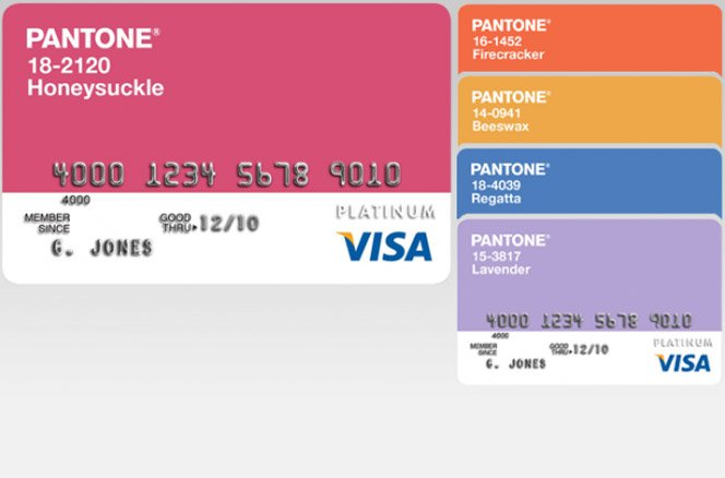 Cartão de crédito pantone