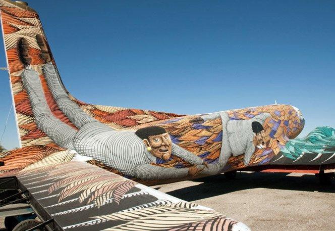 Graffiti em aviões militares antigos