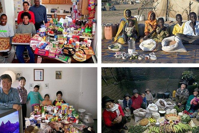 Projeto fotográfico mostra o que comemos em uma semana