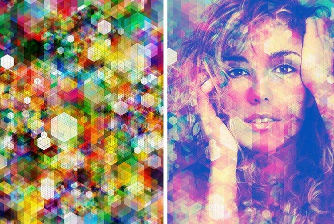 A arte cubista e colorida de Simon C Page