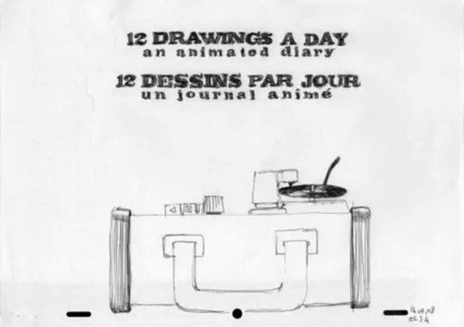 12 desenhos por dia