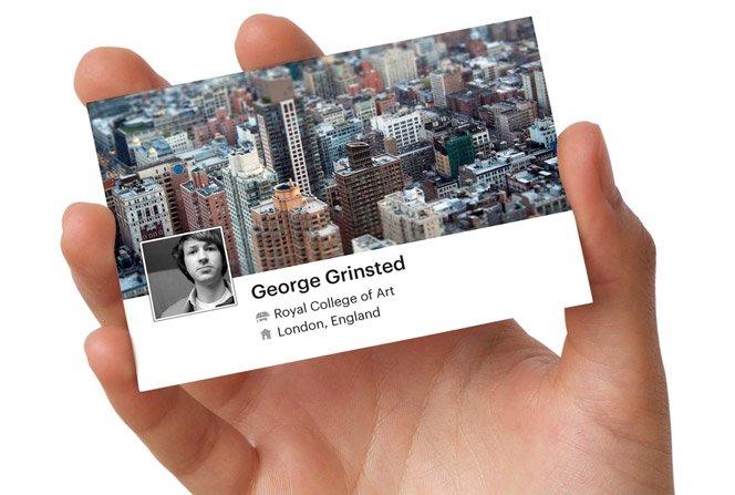 Faça um cartão de visita do Facebook