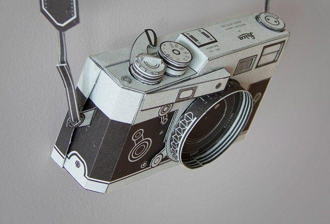 Câmera Leica de papel – Faça a sua também