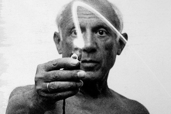 Light paint de Picasso em 1949