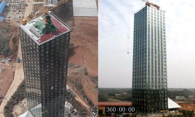 Vídeo mostra a construção de Hotel de 30 andares em 15 dias