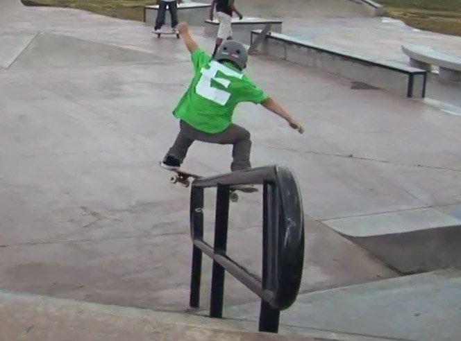 O skatista de apenas 8 anos
