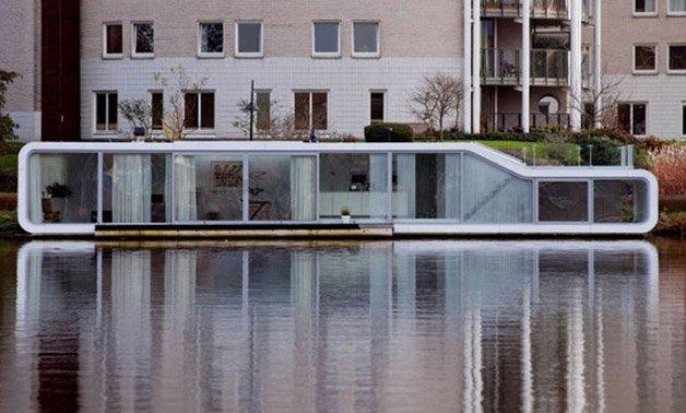 Uma casa flutuante como você nunca viu
