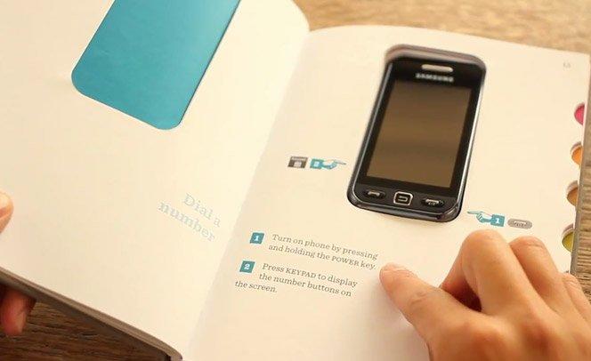 Vídeo mostra o melhor manual de celular já criado até agora