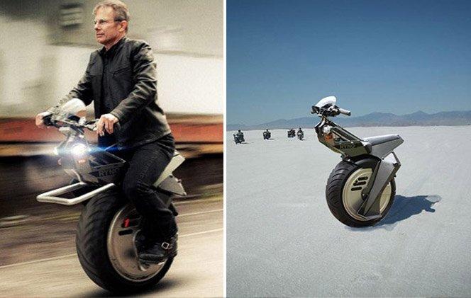 A moto de uma roda só