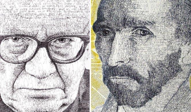 Arte escrita . Retratos feitos com palavras