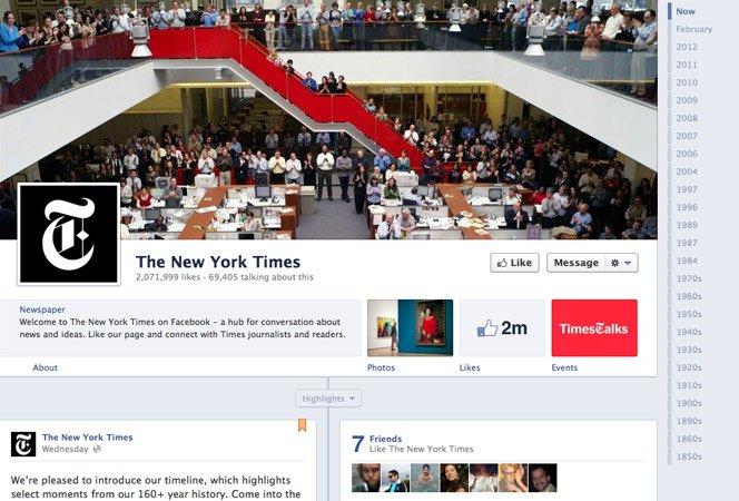 New York Times usa o Facebook para contar sua história de mais de 100 anos