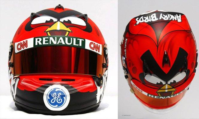 Angry Birds cria capacete de Fórmula 1 para divulgar patrocínio