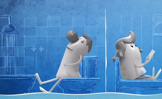 App simula barulho de banho para abafar sons do banheiro