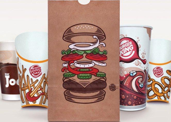 Novas embalagens do Burger King