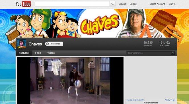 Chaves agora tem canal oficial no Youtube