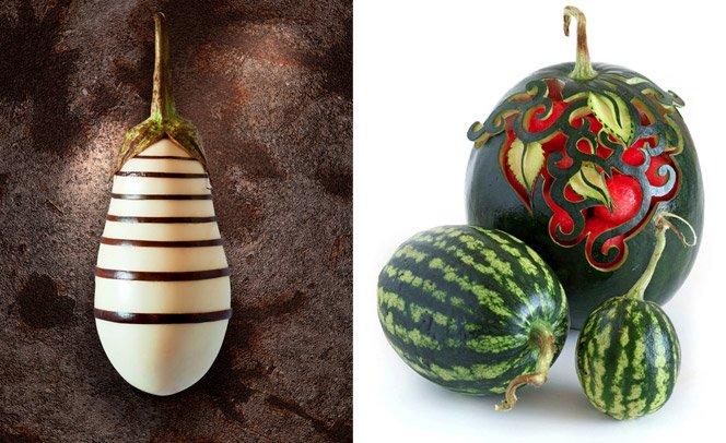 Esculturas incríveis com comidas