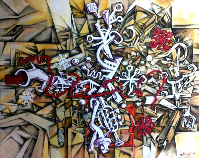 Cubismo do artista brasileiro Otávio Bittencourt