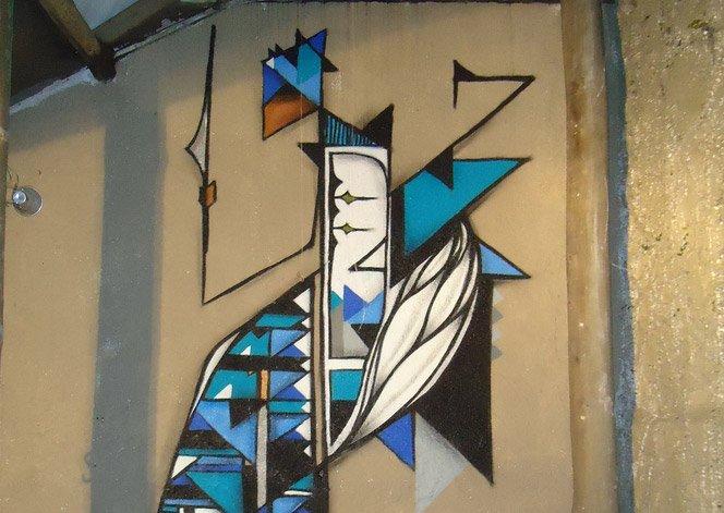 Graffiti do artista brasileiro Ficore