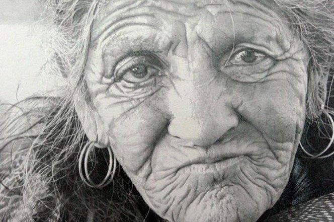 Ilustrações hiperrealistas feitas com grafite