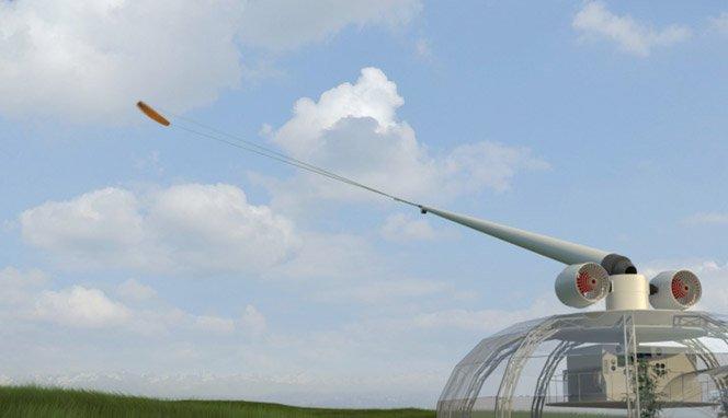 Usando pipas para gerar energia eólica