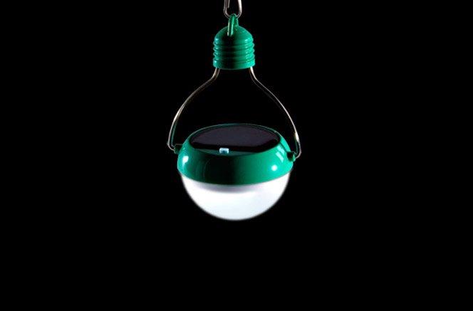 Lâmpada que funciona com energia solar