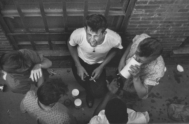 Fotografias de gangues de Nova York nos anos 50