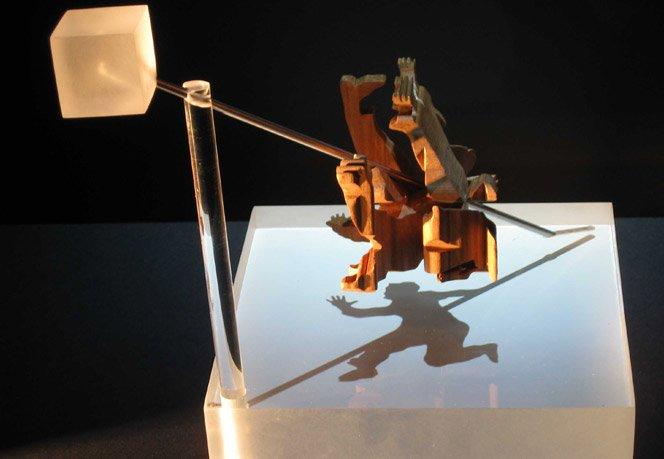 Esculturas feitas com sombras