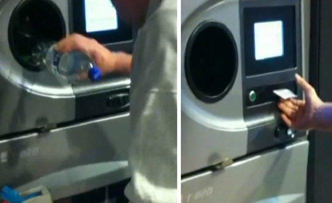 Máquina troca garrafa PET por dinheiro