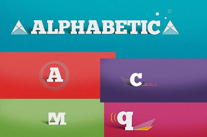 Linda animação tipográfica em ALPHABETIC