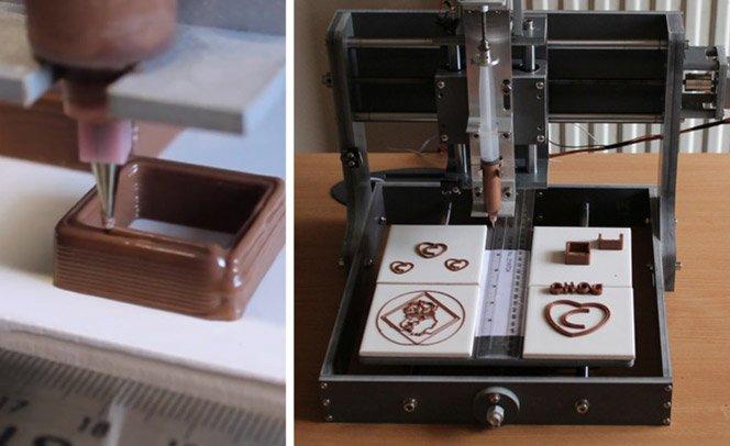 Primeira máquina que imprime seu chocolate no formato que você quiser