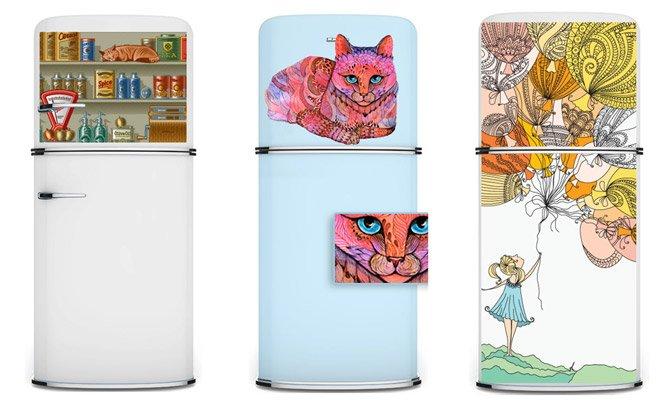 Imãs de geladeira gigantes e criativos que  podem mudar o visual da sua cozinha