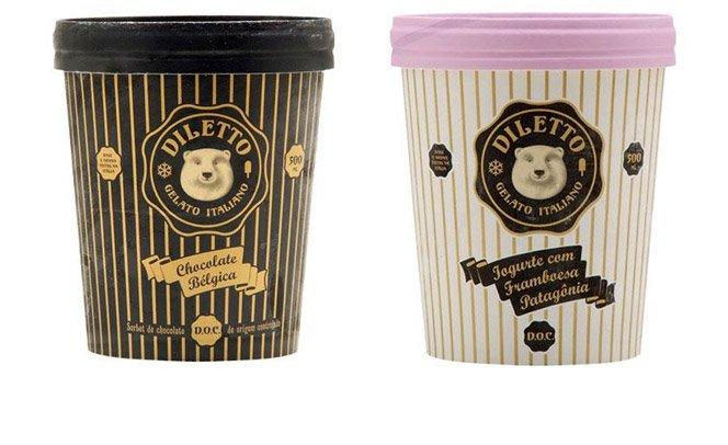 Diletto lança versão de embalagem com 500 ml de sorvete