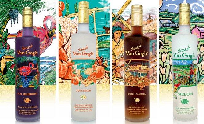 Vodka VanGogh tem garrafas inspiradas nas obras do pintor